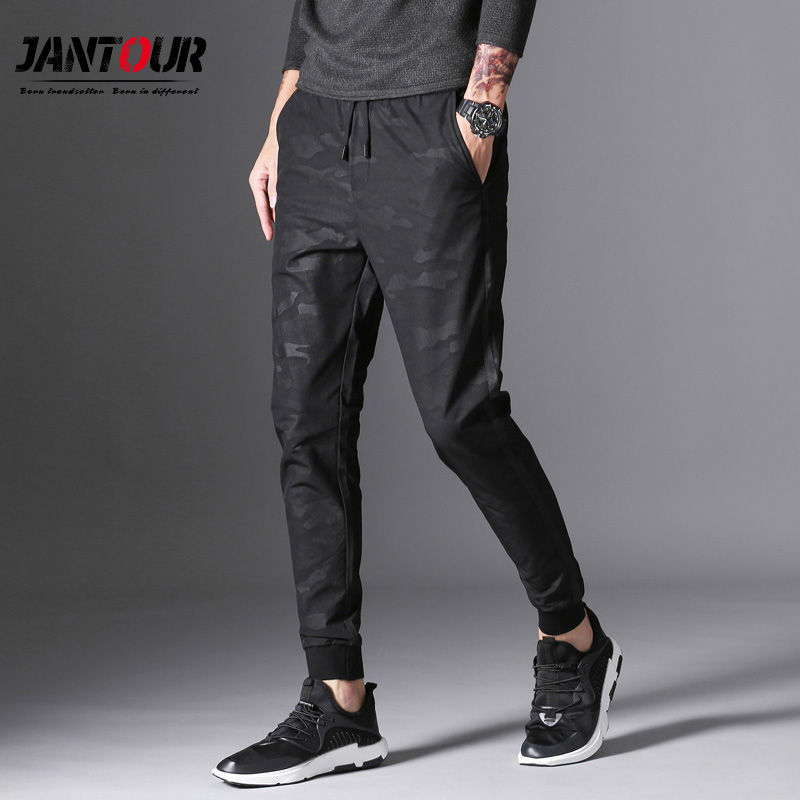 brand 2018 new Camouflage casual pants men,printing long trousers Elastic Waist black cargo pants, males fashion Causal clothes