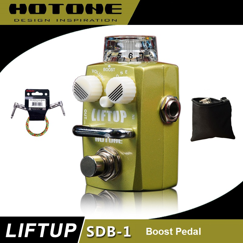 Hotone Skyline Series LIFTUP Clean Boost Pedal with Free Pedal Case and More mxr m133 micro amp gain boost pedal with level control led indicator and footswitch