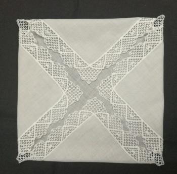 Set Of 12 Fashion Wedding Bridal  Handkerchiefs Cotton Hankie With Vintage Crochet Lace Ladies Hankies 12x12-inch