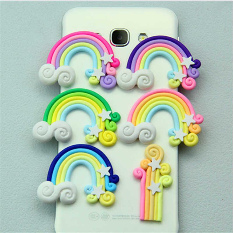 5Pc Handmade DIY Rainbow Star Cake Topper Party Decorations Kids Birthday Unicorn Wedding Gifts For