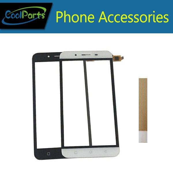 1 Stk/partij Hoge Kwaliteit Voor Micromax Q391 Touch Screen Digitizer Touch Panel Glas Vervanging Deel Wit Zwart Kleur Met Tape Geweldige Prijs