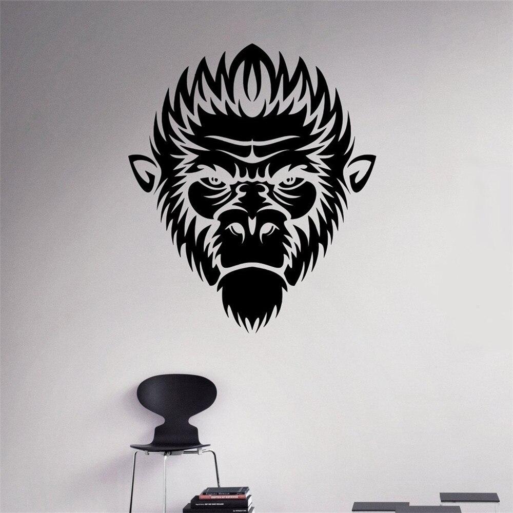 Monkey Face Vinyl Decal Ape