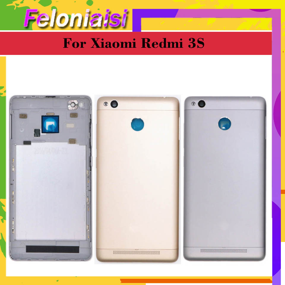 For Xiaomi <font><b>Redmi</b></font> <font><b>3S</b></font> <font><b>Battery</b></font> <font><b>Cover</b></font> Rear Door Back Housing Case Middle Chassis Replacement For Xiaomi Redmi3S <font><b>Battery</b></font> <font><b>Cover</b></font> image