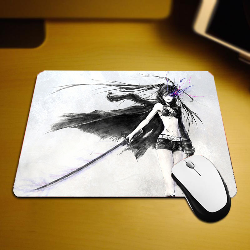 Mairuige 250x290x2MM Small Size Mouse Pad Anime Girls Cool Animation Products White Black Rock Shooter Miku Pc Notebook Computer