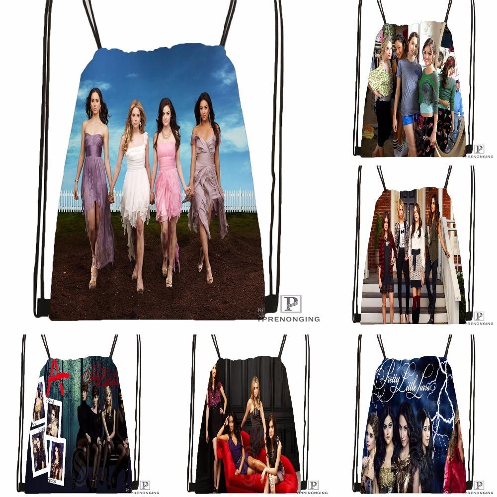 Custom Charmed Pretty Little Liars Drawstring Backpack Bag Cute Daypack Kids Satchel Black Back 31x40cm 180531