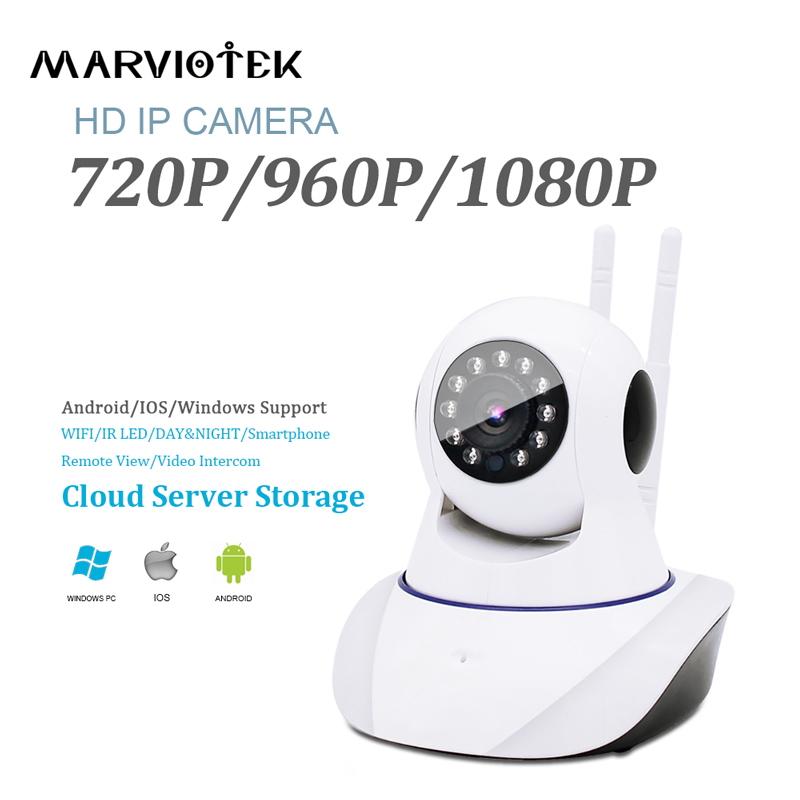 720P font b wireless b font IP Camera wifi 960P video surveillance camera 2 antenna Pan