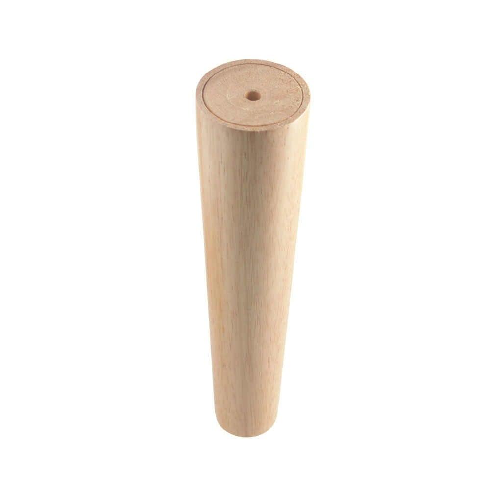 1 шт. Натуральные Твердые деревянные ножки для мебели в форме конуса деревянные ножки шкафа