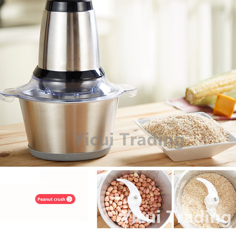 Multi-function Household Stainless Steel EU Plug Electric Meat Grinder Meat Mincer Blender Machine anti theft 18 4 inch waterproof laptop backpack business travel student school bags with usb charging
