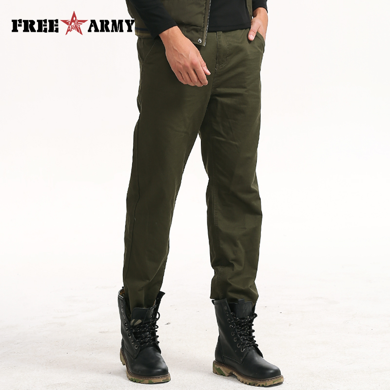 100 Cotton Long Pants Washed Military Trousers Man Army Green Pants Men Pants Big Size Casual