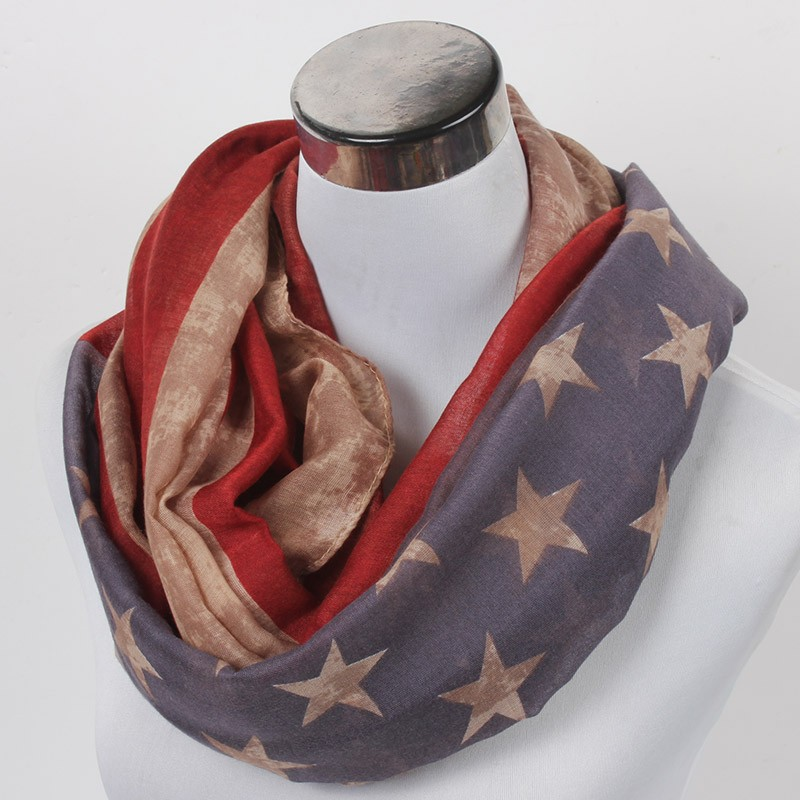 USA flag Loop Scarf | Infinity Scarves | Up to 60% Off Now