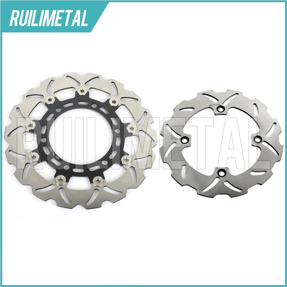 Full Set Front Rear Brake Discs Rotors for Suzuki DR 650 SE DR650SE 96-16 15 14 13 12 11 10 09 08 07 06 05 04 03 02 01 00 99 98 mfs motor motorcycle part front rear brake discs rotor for yamaha yzf r6 2003 2004 2005 yzfr6 03 04 05 gold