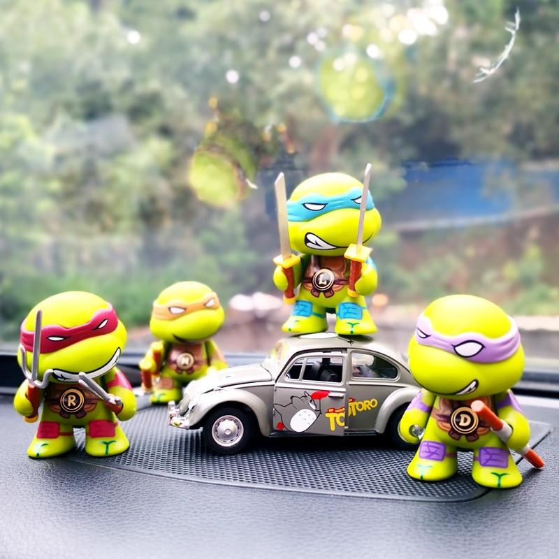 Hell Q Version Von Die Ninja Schildkröte Schildkröte Mit Die Auto Ornamente Cartoon Puppe Auto Schmuck Kreative Spielzeug Auto Liefert SchnäPpchenverkauf Zum Jahresende