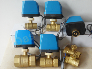 """Image 5 - DN15(G 1/2"""") AC220V 2 way 3 wire motorized brass ball valve with electric actuator controller"""