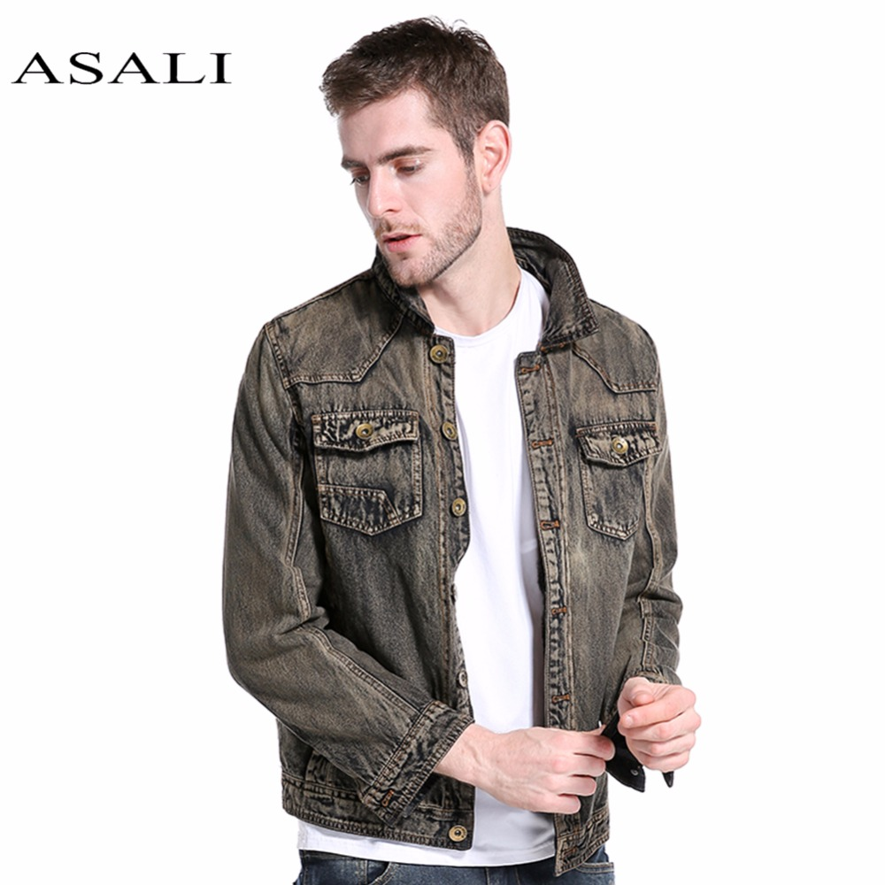 ASALI Denim Jacket Men Hooded Sportswear Outdoors Casual fashion Jeans Jackets Hoodies Cowboy Mens Jacket and Coat Plus Size 3XL