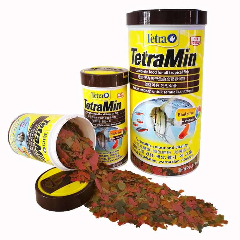 High Quality Tetra Tropical Fish Food 52g 250ML/200g 1000ML Flakes Canister TetraMin Made In Germany