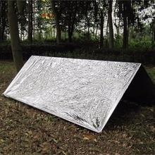 Холодостойкое военное одеяло первой помощи, спасательный занавес для выживания, спасательный тент, многоразовый спальный мешок 130*210 см