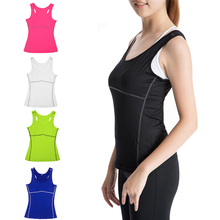 Yoga Woman running sports shirt elastic breathable wicking quick-drying vest no rims gym