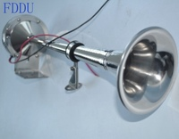 12v Marine Boat Stainless Steel Single Trumpet Horn Low Tone 16 1 8