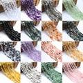 Бусины из натурального камня 8-10 мм, нестандартные бусины из агата, яшмы, кварца, для изготовления ювелирных украшений, 15 дюймов