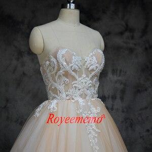 Image 4 - 2019 חדש הגעה ניגודיות צבע נחמד ואגלי אורך רצפת שמלות חתונה שמלת אישית מקובלים במפעל ישירות