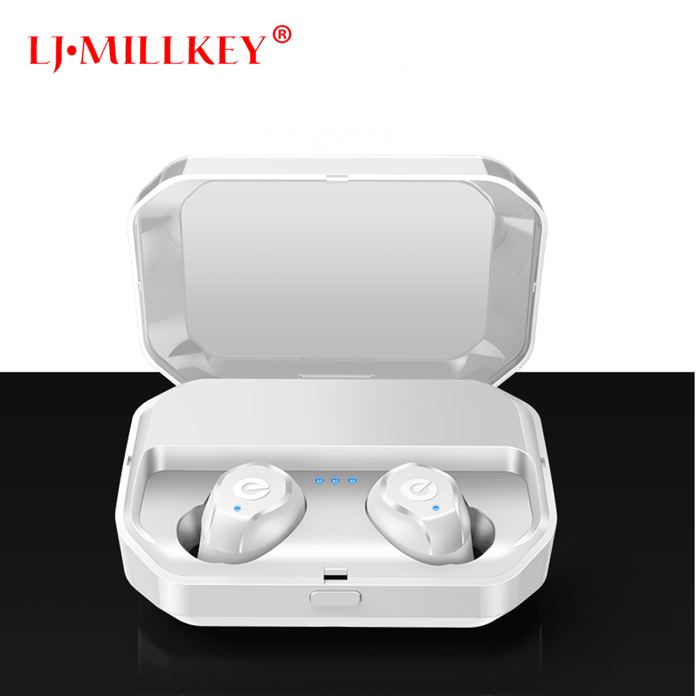Bluetooth 5.0 Waterproof Touch True Sport Wireless Earbuds TWS Mini Bluetooth Earphone Earpiece with Power Storage Box YZ207 цена