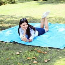 215*215cm Camping Mat Waterproof Outdoor Foldable Picnic Pads Sand Free Mat Blanket Pad For Beach Tent Hiking With Storage Bag(China)