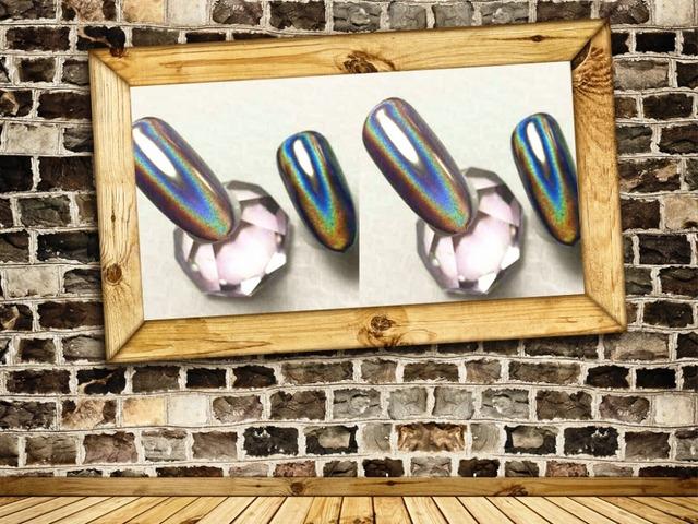 TCWB182 Holográfico Plateado Color Magic Mirror Efecto Cromo Pigmento En Polvo o el Arte del clavo o otros deco