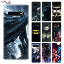 Batman DC Patterned Silicome Case For Samsung Galaxy S10 S6 S7 Edge S8 S9 Plus lite Note 8 9 M10 M20 M30 Gift Customized Cover