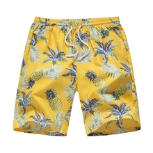 2019 New Summer Hawaii Men's Board Shorts Beach Brand Shorts Surfing Bermudas Masculina De Marca Print Men Boardshorts цены