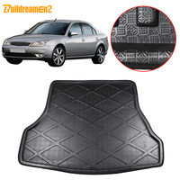 Buildreamen2 For Ford Mondeo Car Trunk Mat Rear Boot Tray Liner Cargo Carpet Floor Mud Pad 2002 2003 2004 2005 2006 2007 2008