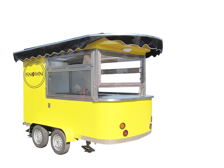 KN 320 Coffee Mobile Food Truck Ice Cream Cart Hot Dog Mobile Food Cart /Trailers with free shipping