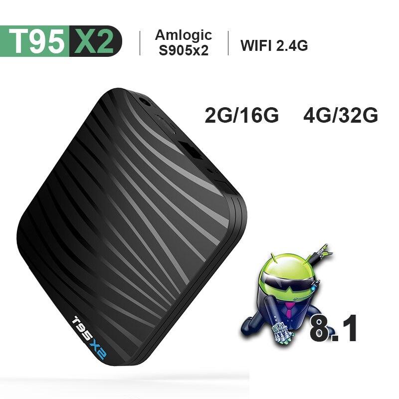 T95X2 TV Box Android 8 1 4G32G S905X2 QuadcoreTV BOX 2 4G WIFI USB 3 0