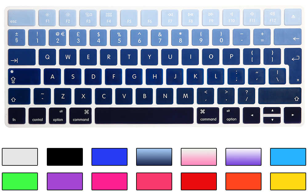 Rainbow Gradient Magic Keyboard Cover Silicone Skin Protective Film For Apple Magic Keyboard 2 2015 A1644 UK/EU Keyboard Version