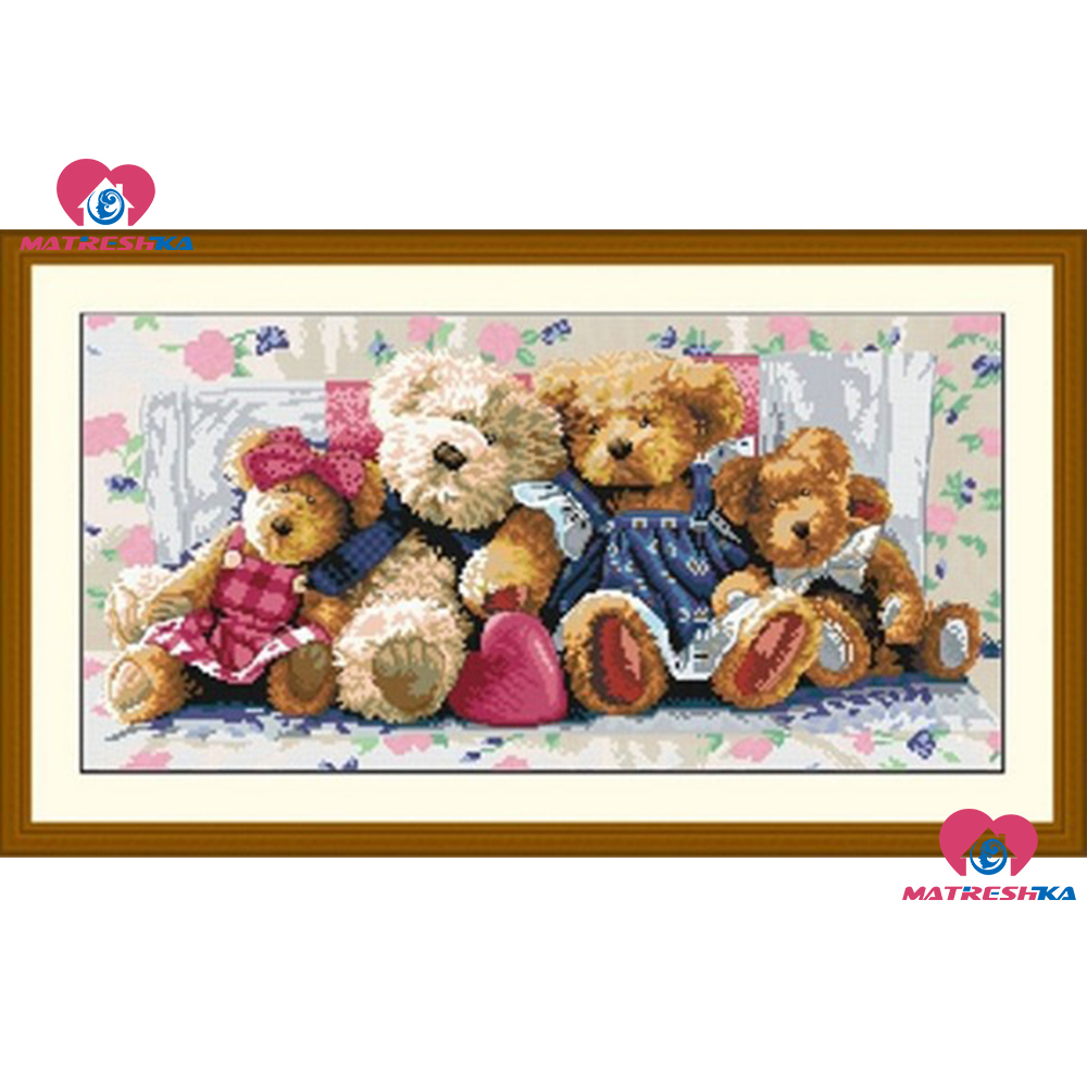 59cm 30cm beads embroidery Accurate printed Cubs full beadwork home decor crafts needlework craft home decoration