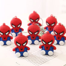 2019 Cartoon Figure PVC Marvel Avengers Keychain Cute Superhero Batman Spider Man Key Chain Key Ring Kids Key Holder Trinket(China)