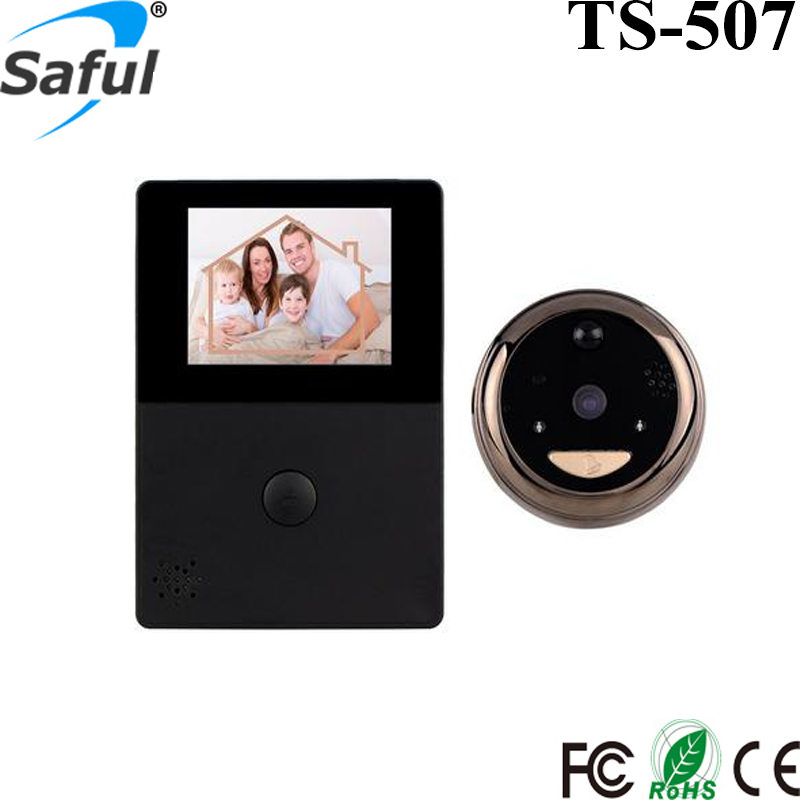 2.8 Inch LCD Digital Wifi Video Door Peephole Viewer Security Camera Support IOS & Android Smart Phones Free Shipping 2016 new tkstar bar mini personal trackerreal time tracking support android and ios platform free web application free shipping