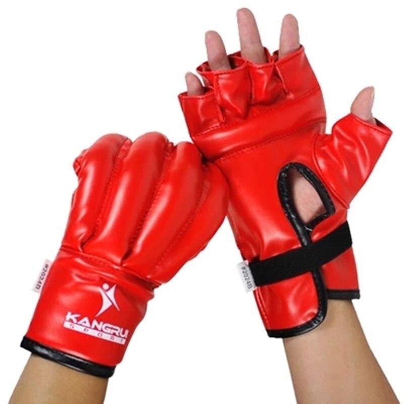 Semi finger boxing kick fighting gloves sandbag MMA boxing ...