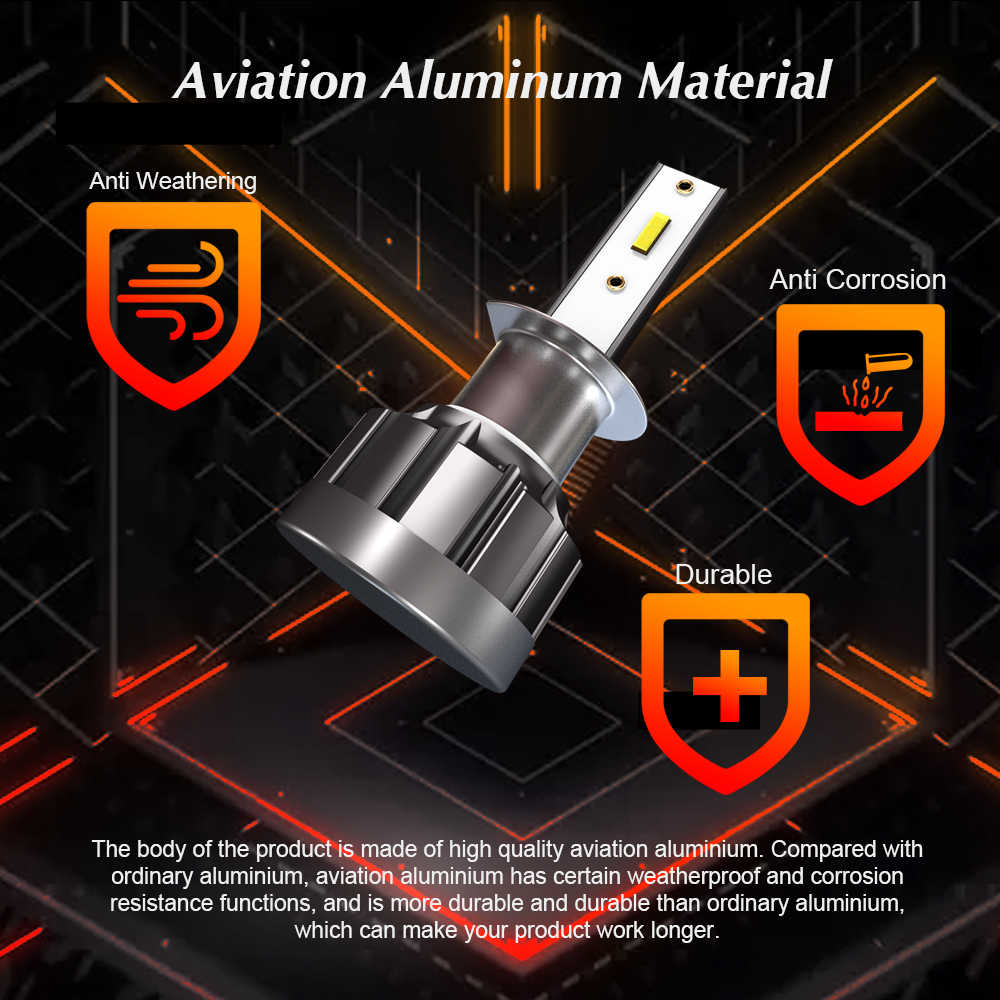 6000K H4 LED H7 H11 H8 HB4 H1 HB3 Auto CSP Car Headlight Bulbs 8000LM Car Styling 9005 9006 auto Auto Headlamps