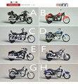 Japan UCC original bulks 5CM mini motorcycle Harley retro simulation model doll kids Toys for children collection gift