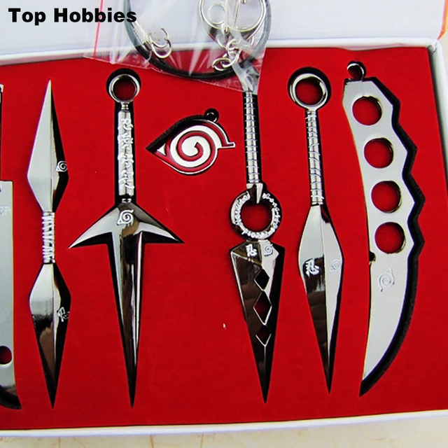 Anime Naruto Blade Keychain Kunai Sword Shuriken Knife