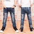 Pantalones vaqueros de Los Muchachos, pantalones vaqueros chico de 2 a 14 años para la Primavera Otoño de Los Niños de Los Pantalones de Mezclilla Azul Oscuro Diseñado Pantalones 17106