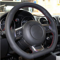 Car DIY special hand black genuine leather cover for Audi TT 2010+