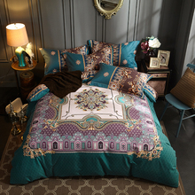 full queen king size 100cotton 4pcs vintage europe style bohemian boho floral bedding sets