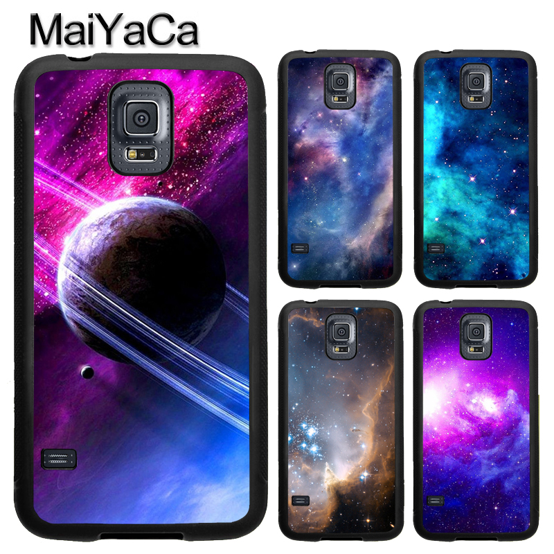 MaiYaCa Outer Space Star Nebula Universe Phone Case Fundas For Samsung S7 S5 S6 edge S8 S9 plus Note 8 Note 4 Note 5 Back Cover