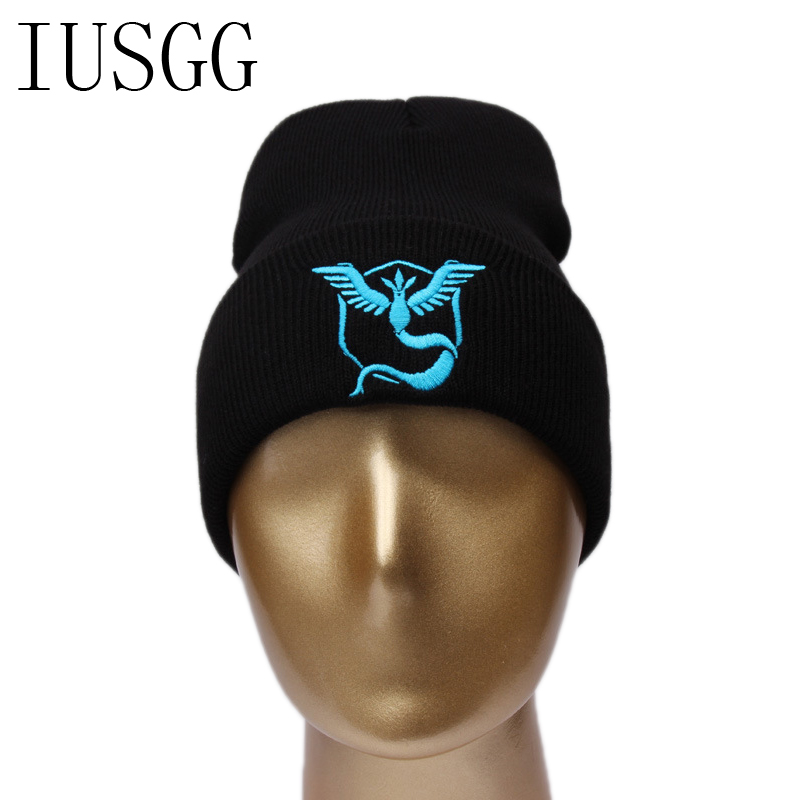 pokemon go Hip Hop Hat Winter Hat Beanie Gorro Gorros De Lana Gorras Warm Bonnet Chapeu Cap Cappelli Beanies Bonnet Masculino knitted winter warm female hat rabbit fur beanie cap woman chunky baggy cap skull gorros de lana mujer bonnet femme beanies cap