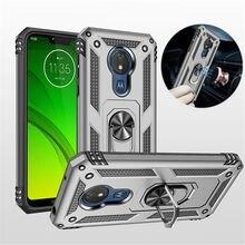 Dla Motorola Moto G6 G7 Plus G7 Power G8 Play Case pancerz pierścień magnetyczny etui z podstawką i uchwytem do Moto G6 G7 Play E5 E6 Plus Z4