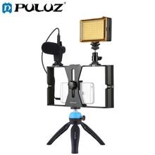 PULUZ Smartphone Video Rig Filmcilik Kayıt Kolu Sabitleyici iphone braketi/Smartphone