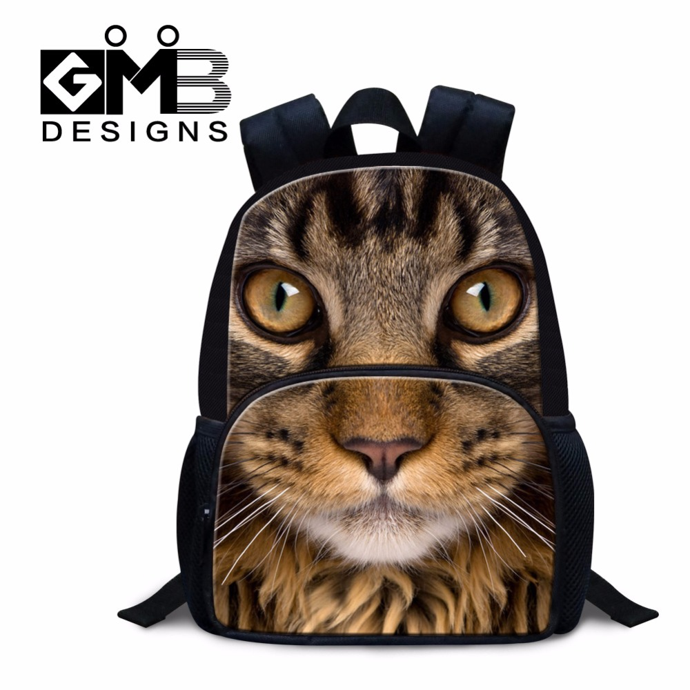 Cool Cat backpacks for little girls Ultralight back packs for kindergarteners Animal Small Mochilas for Kids Boys Bookbag child