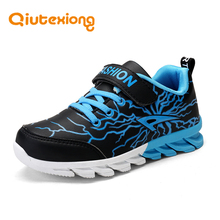 QIUTEXIONG Children Shoes Boys Casual Shoes Kids Sneakers Sport Trainer Running Footwear Anti-Slippery Leather chaussure enfant