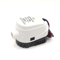 FREE SHIPPING Automatic Mini Electric Bilge Water Pump For Boat 12V 24V 1100gph AUTO Small 12